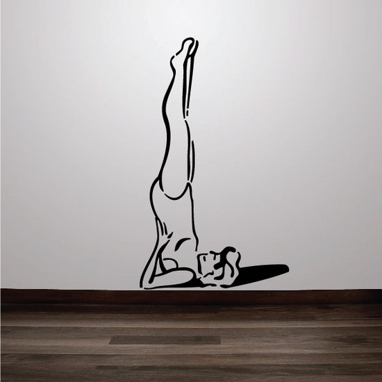 Female Stretching Yoga Fitness Wall Decal - Vinyl Decal - Car Decal - MC053