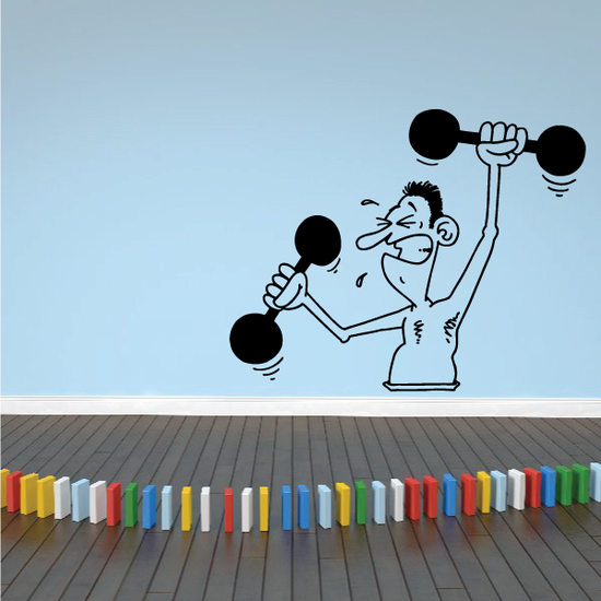 Fitness Wall Decal - Vinyl Decal - Car Decal - Bl078