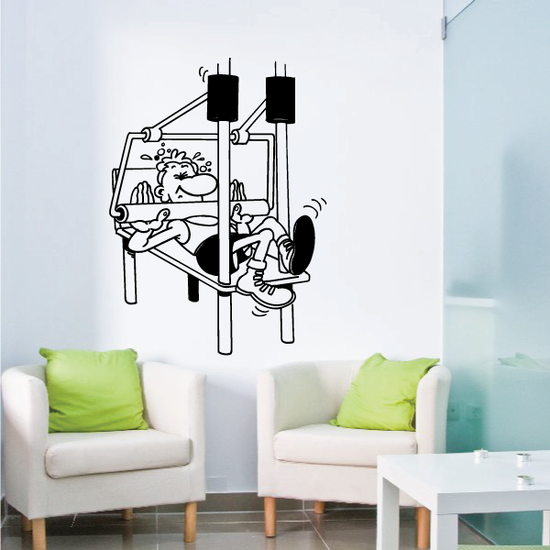 Fitness Wall Decal - Vinyl Decal - Car Decal - Bl095