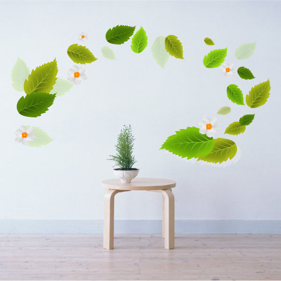 Clear Leaf Stickers