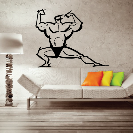 Fitness Wall Decal - Vinyl Decal - Car Decal - Bl122