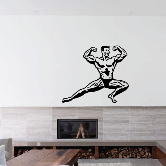 Fitness Wall Decal - Vinyl Decal - Car Decal - Bl123