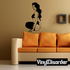 Woman in Lingerie Looking Back Decal