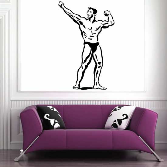 Fitness Wall Decal - Vinyl Decal - Car Decal - Bl132