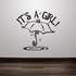 It is a Girl Baby Shower Raining Umbrella Wall Decal