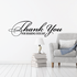 Thank You For Sharing Our Day Celebration Wall Decal