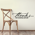 Thanks For Sharing our Day Wall Decal