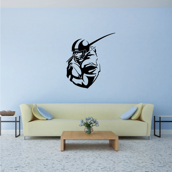 Detailed Football Player Decal