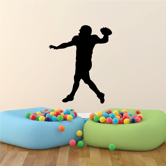 Football Player Wall Decal - Vinyl Decal - Car Decal - Vd015