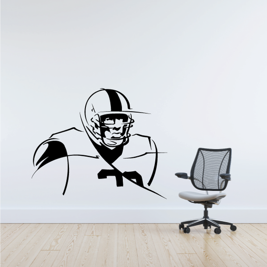 Football Wall Decal - Vinyl Decal - Car Decal - Bl002