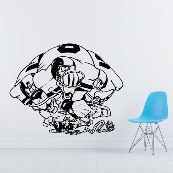 Football Wall Decal - Vinyl Decal - Car Decal - Bl053
