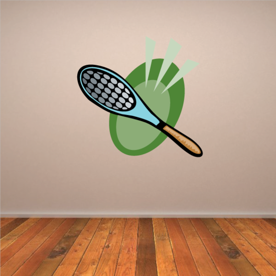 Tennis Racquet Wall Decal - Vinyl Sticker - Car Sticker - Die Cut Sticker - CDSCOLOR021