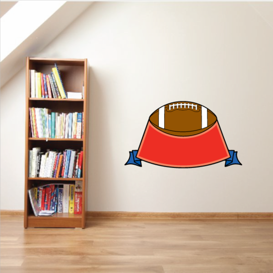 Football Crest Shield Wall Decal - Vinyl Sticker - Car Sticker - Die Cut Sticker - CDSCOLOR072