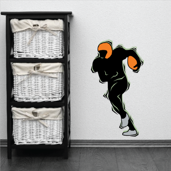 Football Player Wall Decal - Vinyl Sticker - Car Sticker - Die Cut Sticker - CDSCOLOR156
