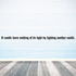A candle loses nothing of its light by lighting another candle Wall Decal