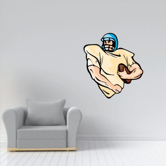 Football Player Wall Decal - Vinyl Sticker - Car Sticker - Die Cut Sticker - CDSCOLOR195
