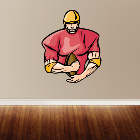 Football Player Wall Decal - Vinyl Sticker - Car Sticker - Die Cut Sticker - CDSCOLOR201