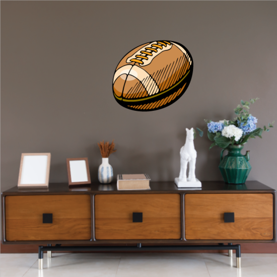 Football Player Wall Decal - Vinyl Sticker - Car Sticker - Die Cut Sticker - CDSCOLOR206