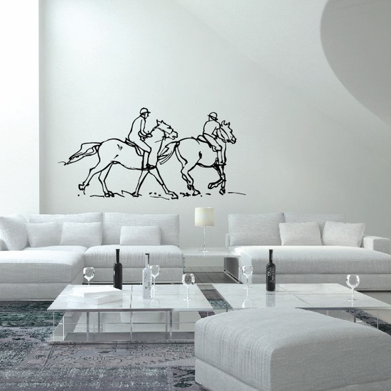 Horseback riding Wall Decal - Vinyl Decal - Car Decal - Bl008
