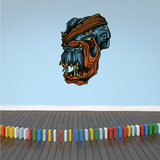 Wounded Monster Head Sticker