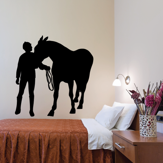 Horseback riding Wall Decal - Vinyl Decal - Car Decal - Bl012
