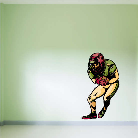 Football Player Wall Decal - Vinyl Sticker - Car Sticker - Die Cut Sticker - CDSCOLOR255