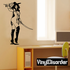 Topless Female Musketeer Decal
