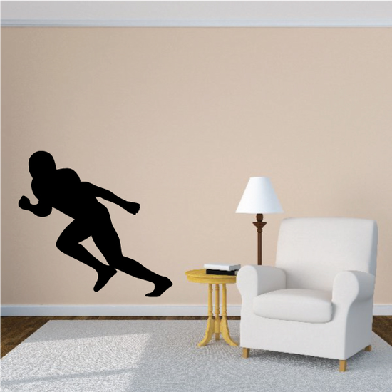 Football Player Wall Decal - Vinyl Decal - Car Decal - Vd004