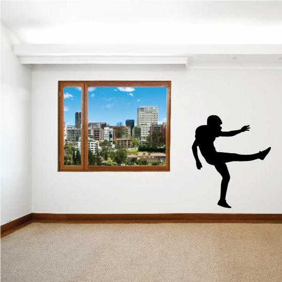 Football Player Wall Decal - Vinyl Decal - Car Decal - Vd006