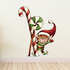 Christmas Elf Helper Greeting with Candy Canes Sticker