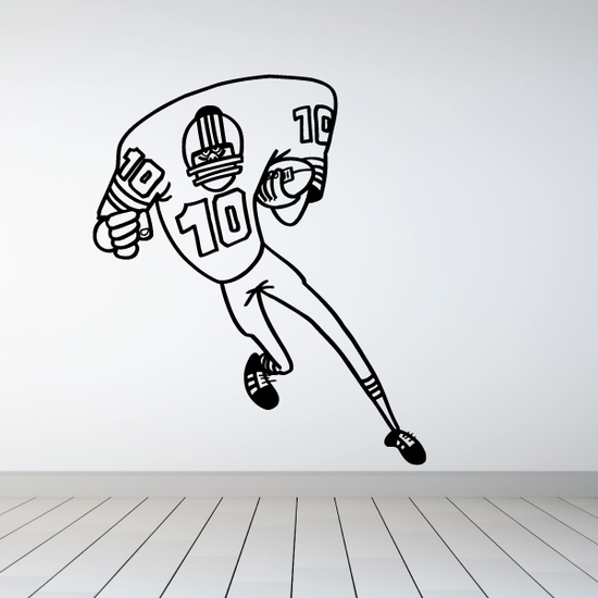 Football Wall Decal - Vinyl Decal - Car Decal - Bl023