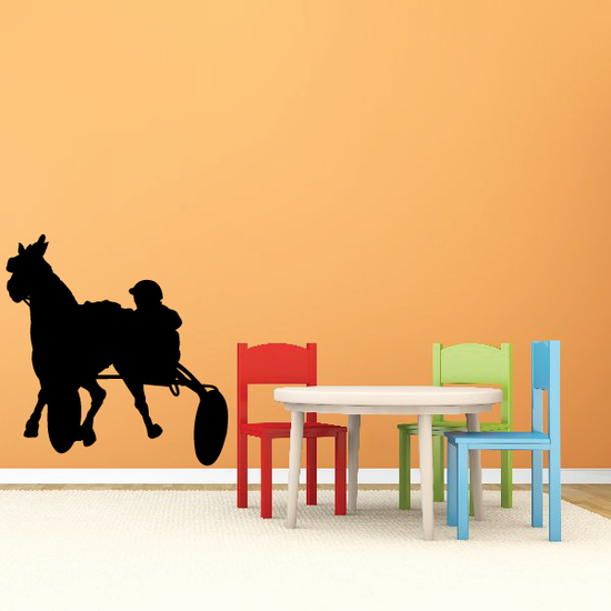 Horse racing Wall Decal - Vinyl Decal - Car Decal - Bl002