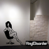 Nude Woman in Office Chair Decal