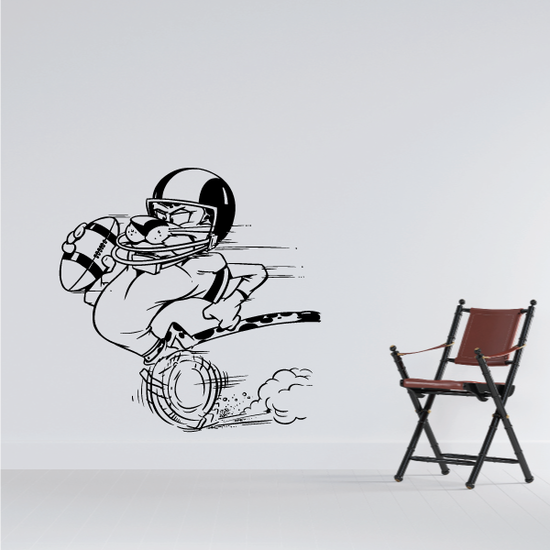 Football Wall Decal - Vinyl Decal - Car Decal - Bl054