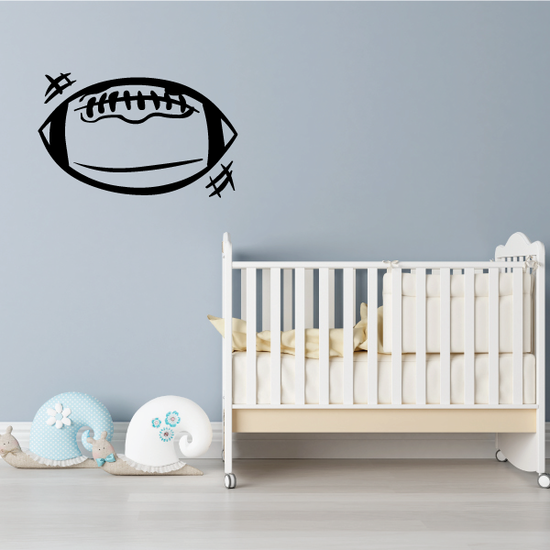 Football Ball Sports Vinyl Wall Decal Sticker Mural Quotes Words FOOTBALLV