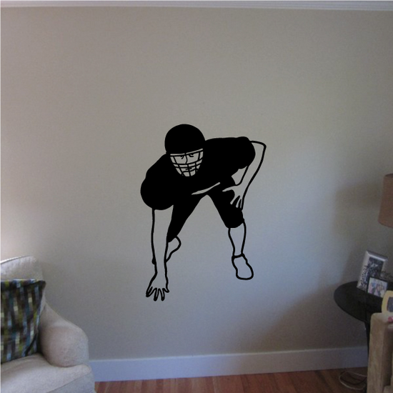 Football Wall Decal - Vinyl Decal - Car Decal - 035
