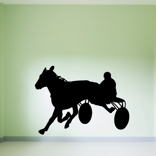 Horse racing Wall Decal - Vinyl Decal - Car Decal - Bl008