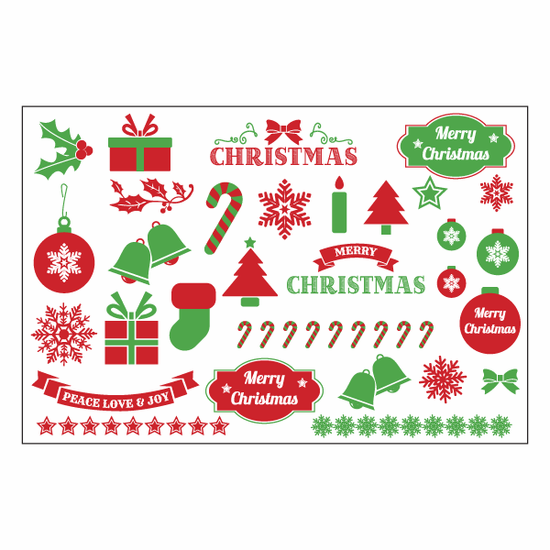 Christmas - Xmas Sticker Sheet