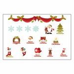 Merry Christmas - Xmas Sticker Sheet