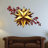 Christmas Star with Holly Berries Printed Decal