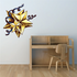 Christmas Star with Ribbons Printed Decal