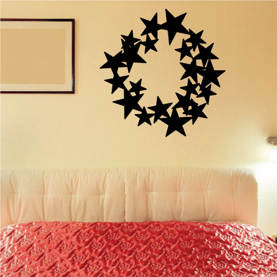 Star Wreath Decal