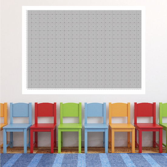 Dry Erase Graph with Dots Sticker