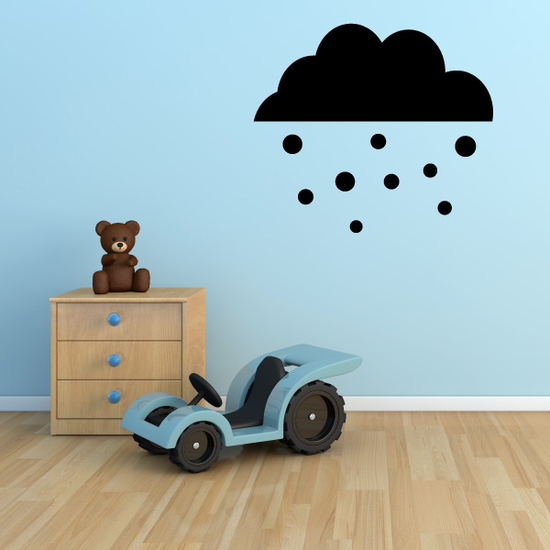 Snowing Cloud Winter Wall Decal - Vinyl Decal - Car Decal - Id001