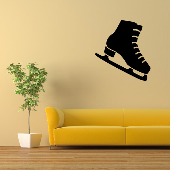 Ice Skates Winter Wall Decal - Vinyl Decal - Car Decal - Id002