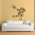 Bunny Football Wall Decal - Vinyl Decal - Car Decal - CDS006