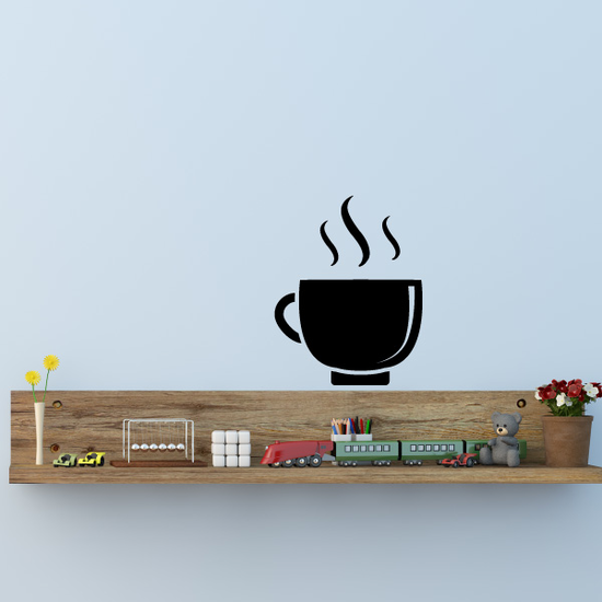 Hot Coffee Winter Wall Decal - Vinyl Decal - Car Decal - Id008