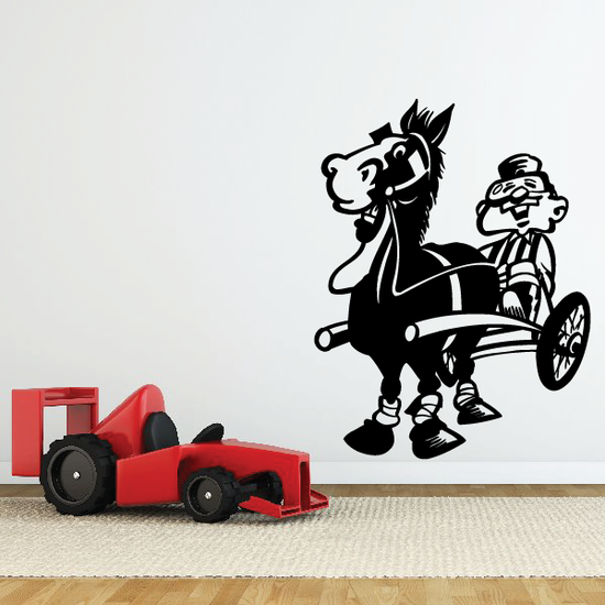 Horse racing Wall Decal - Vinyl Decal - Car Decal - Bl017