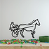 Horse racing Wall Decal - Vinyl Decal - Car Decal - Bl020