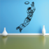 Football Player Wall Decal - Vinyl Decal - Car Decal - CDS076